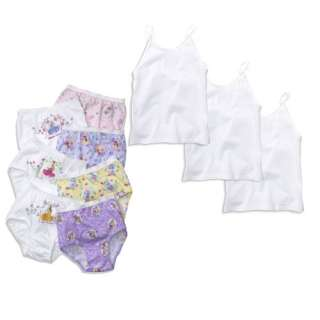 Princess Briefs and Camisole Tops Set   Toddler Girl Baby Clothing