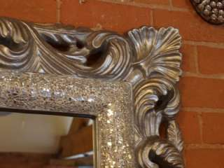 Ornate Framed Silver Glass Mosaic Wall Mirror