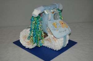 Tricycle Diaper Cake   Baby Shower Center Piece or Gift