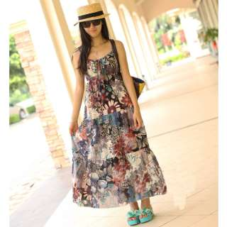 BOHO Exotic Summer Beach Chiffon Long Maxi Dress 3 Colors
