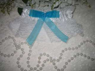 Garter SATIN & LACE Garters Wedding Bridal TURQUOISE