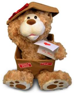 Cuddle Barn Animated Next Day Valentine Bear Singing Signed Sealed and
