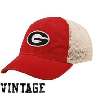 Nike Georgia Bulldogs Red Natural Faded Mesh Swoosh Flex