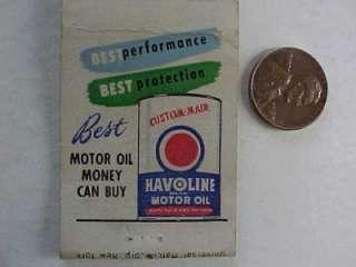 Lafayette,Indiana Texaco Gas & Oil service station matchbook Havoline