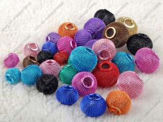 wholesale jewelry lots Mixed Sizes basketball wives mesh beads balls