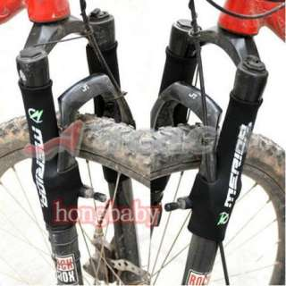 2pcs x Outdoor Cycling Bike Sports Bicycle Front Fork Protector Black
