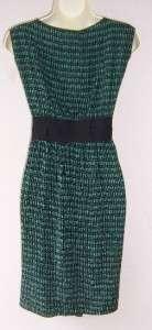 MAX STUDIO MSSP Green Black Plus Size Silk Cocktail Dress 1X 14W 16W