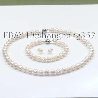 black pink Freshwater AA Pearl Necklace bracelets earrings S49