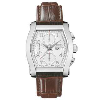 * Bulova Accutron Mens Stratford Leather Chronograph Automatic Watch