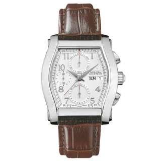 * Bulova Accutron Mens Stratford Leather Chronograph Automatic Watch