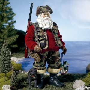 Hand Crafted Duck Hunter Hunting Santa 10 #W6304: Home & Kitchen