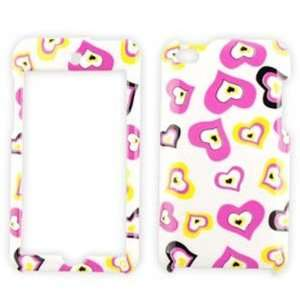 Apple iPod Touch 4 (iTouch) Multi Funky Hearts on White