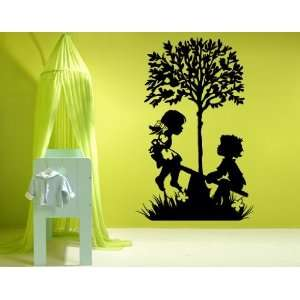 Playing Kids   Vinyl Wall Decal