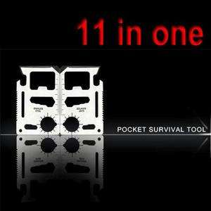 Stainless Pocket Survival Army Multi functional Sport Camp TOOL CARD