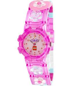 Lego Girls Clikits Pretty in Pink Hearts Watch