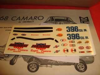 MPC 1968 Chevy Camaro SS 396 Ht. Unb. Model Car Kit