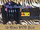 Premium DVD Box holds 12 Twelve Discs Movie Case Buy 1