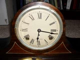 Antique Seth Thomas Mantle Mantel Shelf Tambour Chime Clock 89