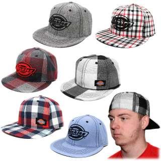 Dickies Flex Fit Flat Bill Hat Ball Cap   Assorted Styles