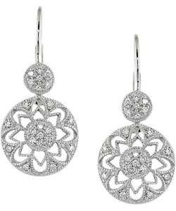 14k White Gold 1/4ct TDW Diamond Leverback Earrings (H I, I1 I2