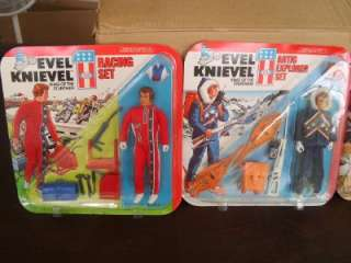 LOT OF 4 VINTAGE 1976 IDEAL TOYS EVEL KNIEVELSETS   RESUCE, ARTIC