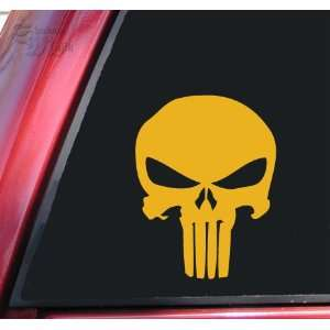 Punisher 2K Skull Vinyl Decal Sticker   Mustard