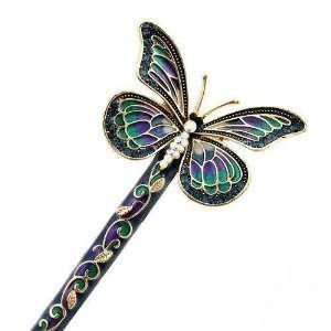 Crystalmood LUX Butterfly Swarovski Rhinestone Hair Stick