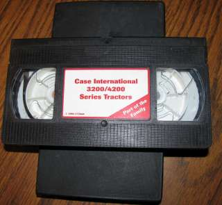 Case International 3200 4200 Series Tractor VCR Video Tape
