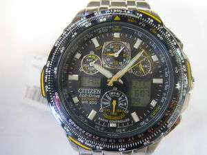 CITIZEN ECO DRIVE SKYHAWK A.T MENS WATCH CHRONO BLUE ANGELS TITANIUM