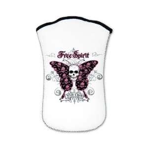 Nook Sleeve Case (2 Sided) Butterfly Skull Free Spirit