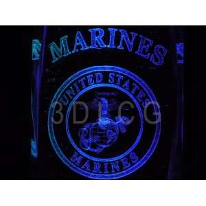 United States Marine Corps U.S.M.C. O 2 3D Laser Etched