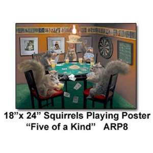 New Arundale Squirrels Playing Poker Poster 24 Inch High Quality