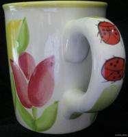 STARBUCKS 2000 Barista Tulip Lady Bug Coffee Mug 18 oz Collectible