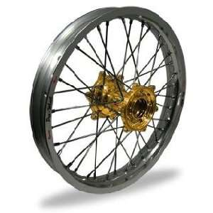Pro Wheel Pro Wheel 3.50x17 Super Moto Front Wheel   Silver Rim/Gold