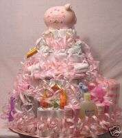 ULTIMATE 4 TIER DIAPER CAKE, SHOWER CAKES, 145+ DIAPERS