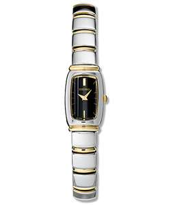 Seiko Ladies Baguette Two tone Quartz Watch