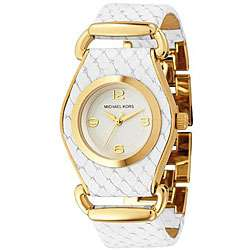 Michael Kors Womens White Leather Watch