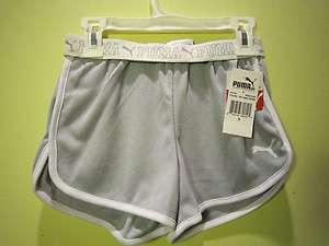 NWT Puma Kids Shorts, Girls Foldover Dazzle Size S
