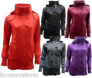 WOMENS LADIES TRENCH COAT MILITARY JACKET 7 COLOURS SIZE 8 14
