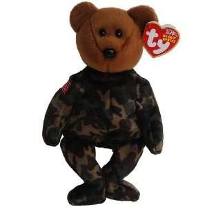Ty Beanie Babies   Hero the Teddy Bear with US Flag on