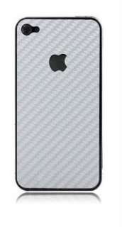 iPhone 4 / 4s Back High Quality Carbon Fibre Skin Vinyl Wrap Decal