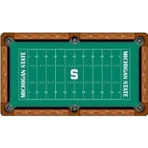 Michigan State Spartans Billiard Table Felt NCAA College Athletics Fan