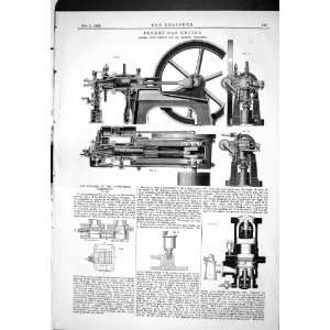 1885 ENGINEERING CLERK GAS ENGINE STERNE LONDON INVENTIONS