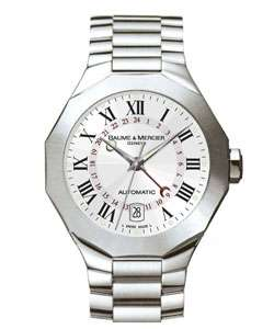 Baume & Mercier Riviera Mens Dual Time Watch
