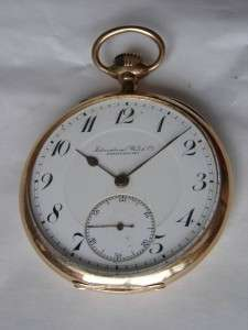 WWI German military IWC Schaffhausen Gold pocket watch.14k Gold ,80g