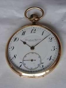 WWI German military IWC Schaffhausen Gold pocket watch.14k Gold ,80g