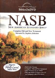NEW Sealed Bible on DVD Complete NASB   Narrated by Stephen Johnston