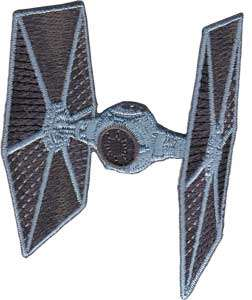 Star Wars Tie Fighter Ship Die Cut Embroidered Patch Baseball Hat, NEW