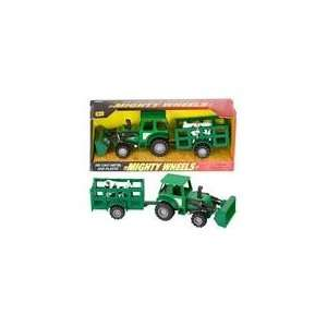 Mighty Wheels Die Cast 8 Farm Tractor Trailer Toys & Games