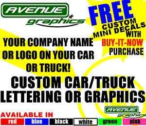 Custom Car Truck Vinyl Door Lettering Graphics Decals